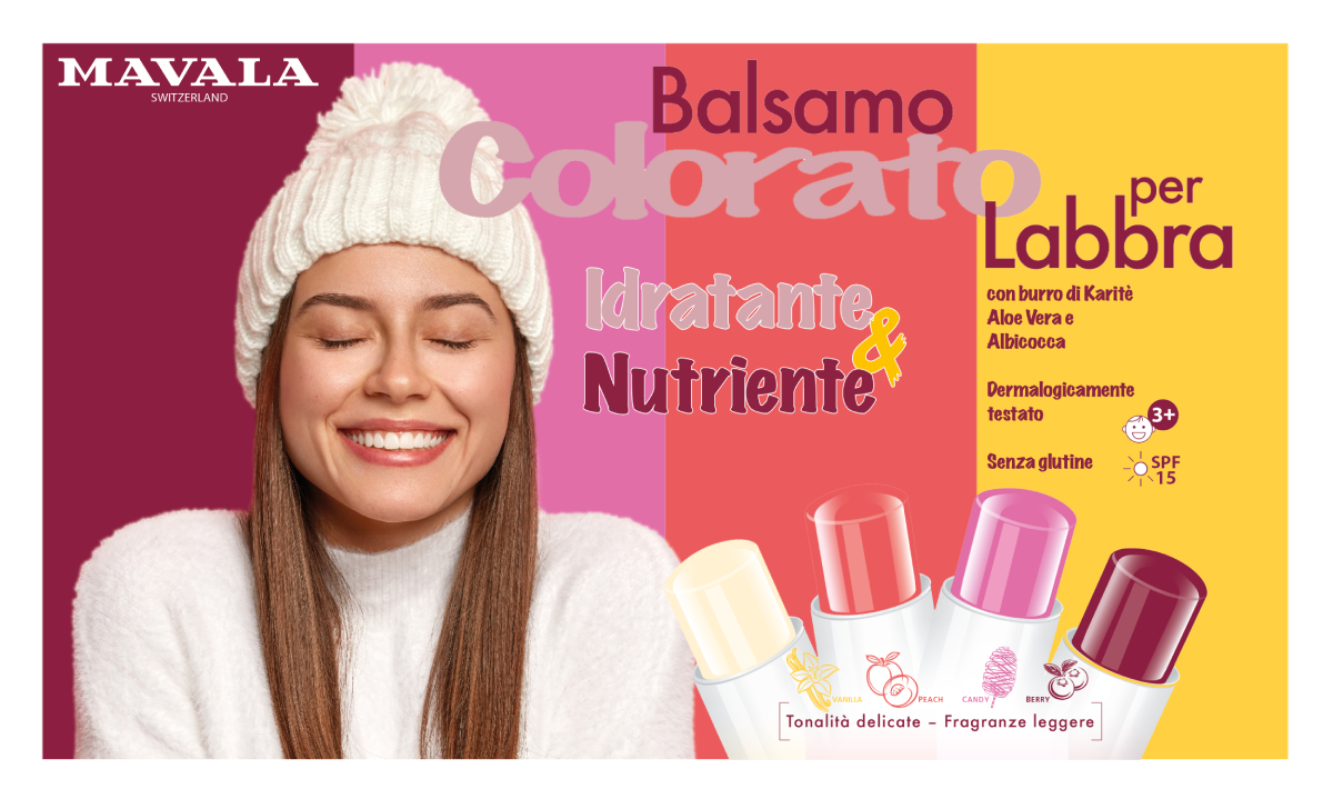 Balsamo Colorato Labbra Mavala IT - Card Orizzontale